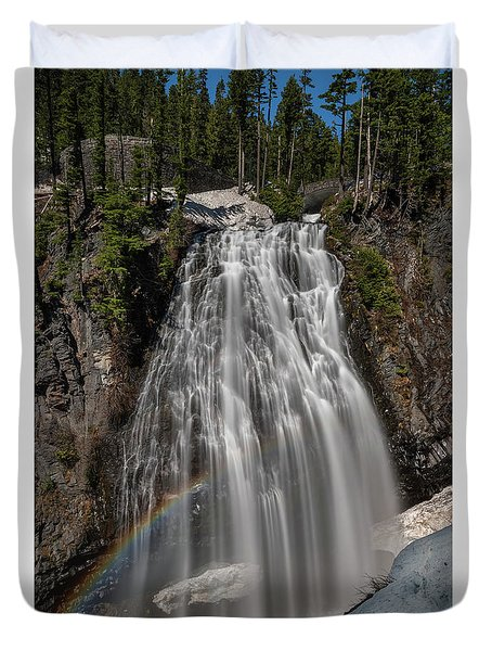 Narada Falls In Winter Duvet Cover