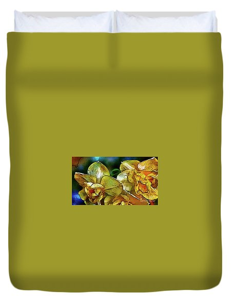 Duvet Cover featuring the photograph Narcissus by Jolanta Anna Karolska