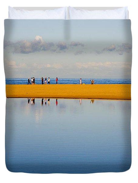 Narrabeen Dunes Duvet Cover by Sheila Smart Fine Art Photography