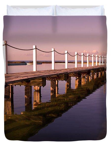 Narrabeen Sunrise Duvet Cover by Sheila Smart Fine Art Photography