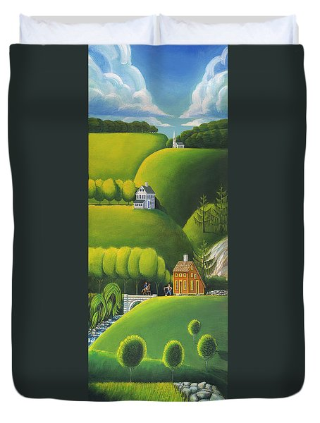 Narrow Foothills Duvet Cover