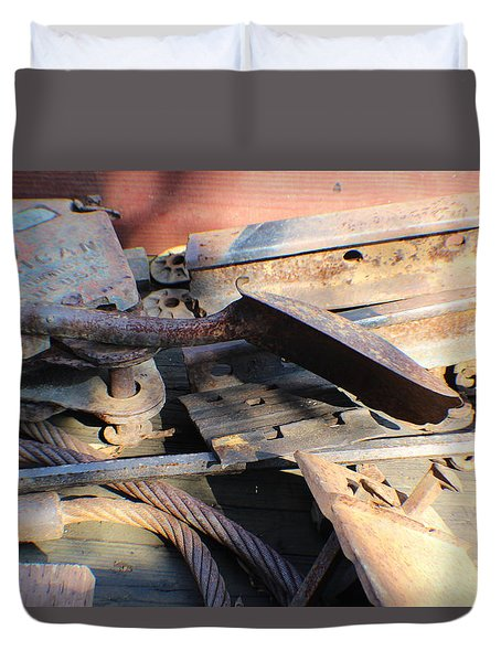 Narrow Gauge Railroad Scrap Duvet Cover