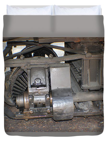 Narrow Gauge Wheels Duvet Cover