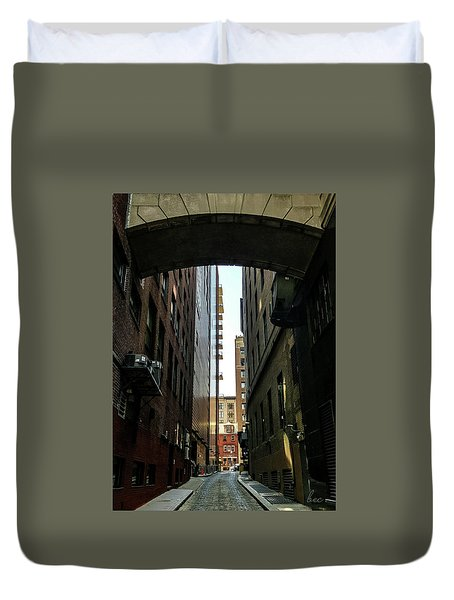 Narrow Streets Of Cobble Stone Duvet Cover by Bruce Carpenter
