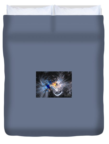 Nasa Coronal Loops Over A Sunspot Group Duvet Cover