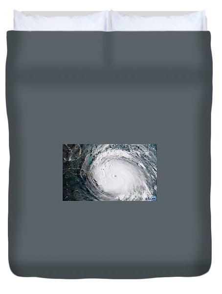 Nasa Hurricane Irma Satellite Image Duvet Cover