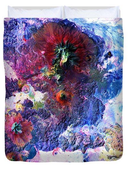 Nasa Image-andes Mts., Chile - Bolivia-2  Duvet Cover