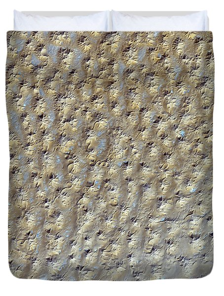 Nasa Image- Star Dunes, Algeria-2 Duvet Cover