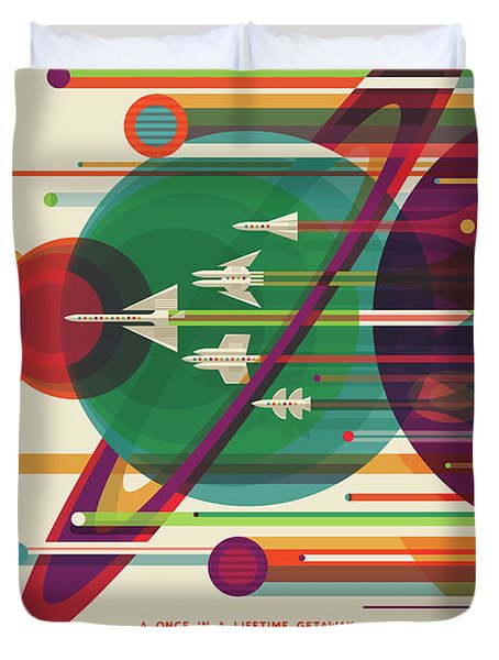 Nasa The Grand Tour Poster Art Visions Of The Future Duvet Cover