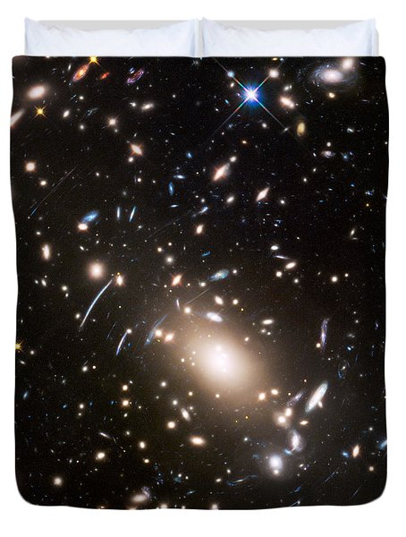 Duvet Cover featuring the photograph Nasa's Hubble Looks To The Final Frontier by Nasa