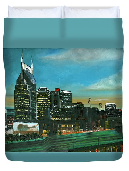 Nashville At Dusk Duvet Cover