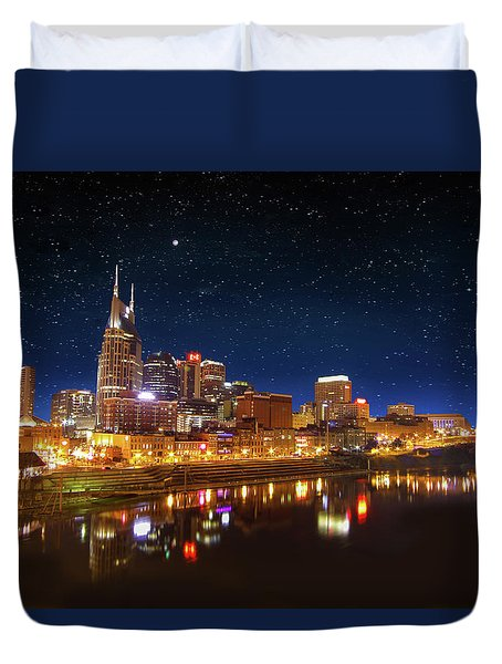 Nashville Nights Duvet Cover