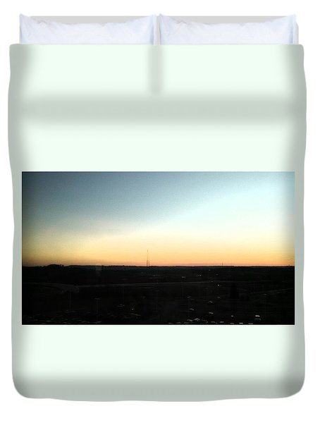 Nashville Skyline At Sunset Duvet Cover by Kimberly  W