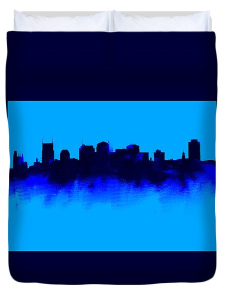 Nashville  Skyline Blue  Duvet Cover
