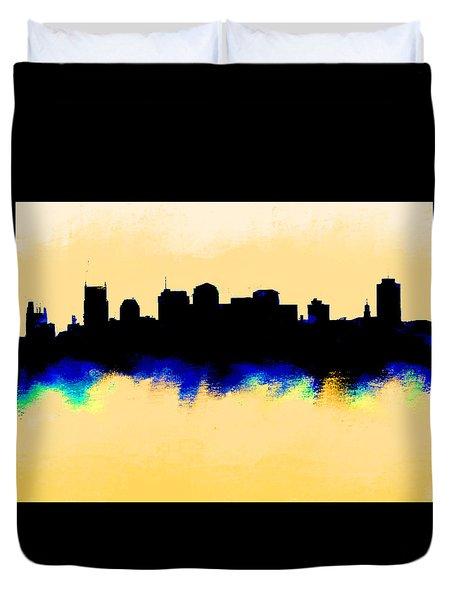 Nashville  Skyline  Duvet Cover by Enki Art