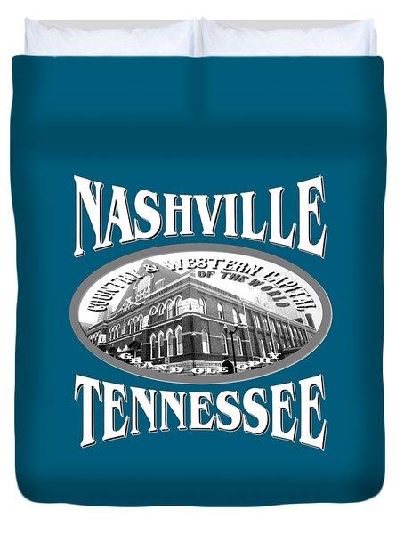 Nashville Tennessee Design Duvet Cover