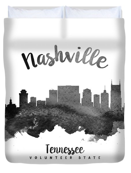 Nashville Tennessee Skyline 18 Duvet Cover by Aged Pixel