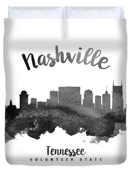 Nashville Tennessee Skyline 18 Duvet Cover