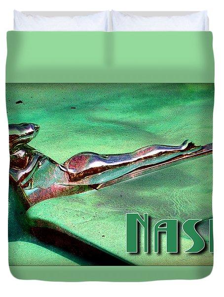 Nashy Girl Duvet Cover by Greg Sharpe
