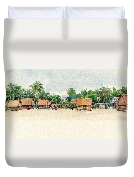 Nassau, Cook Islands, South Pacific Duvet Cover