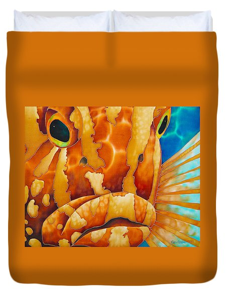Nassau Grouper  Duvet Cover