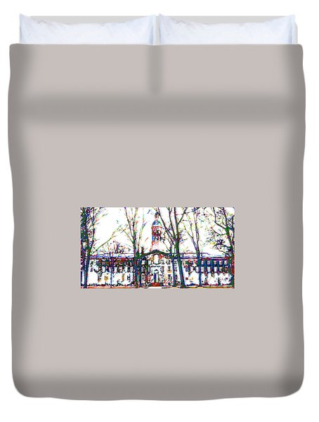 Nassau Hall Duvet Cover