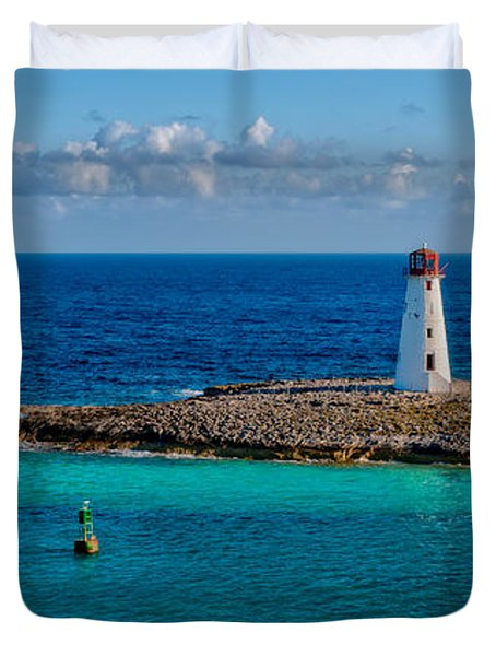 Nassau Harbor Lighthouse Duvet Cover by Christopher Holmes