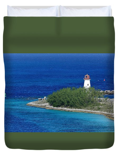 Nassau Lighthouse 1 Duvet Cover by Coby Cooper