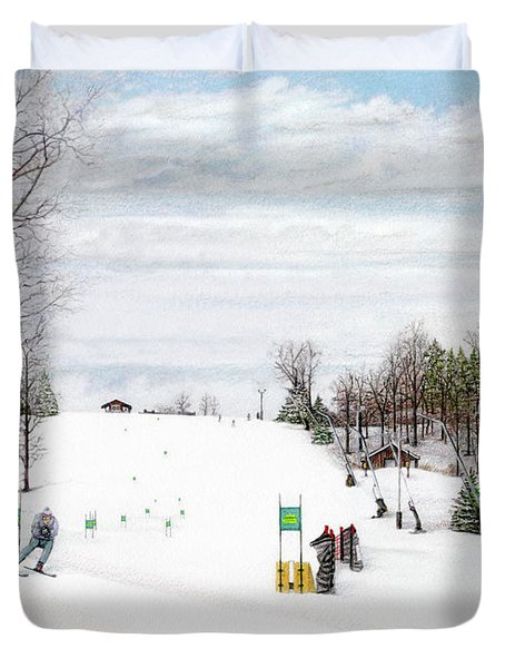 Nastar At Seven Springs Mountain Resort Duvet Cover by Albert Puskaric