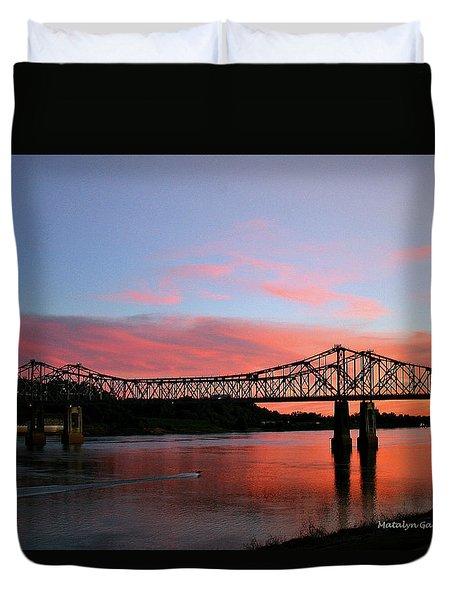 Natchez Sunset Duvet Cover
