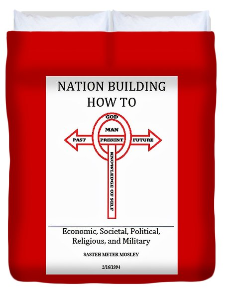 Nation Building How To Book Duvet Cover