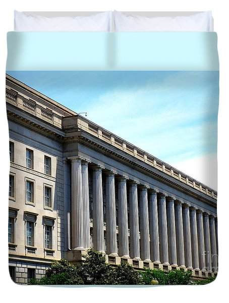 National Archives 2 Duvet Cover by Randall Weidner