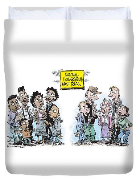 National Conversation About Race Duvet Cover