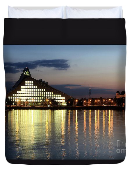 National Library Of Latvia Duvet Cover