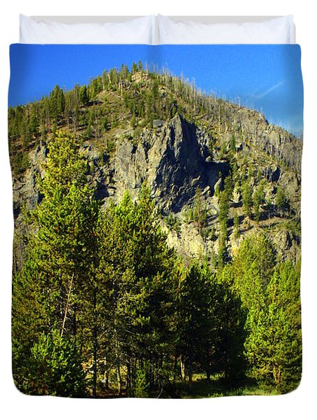 National Park Mountain Duvet Cover by Marty Koch