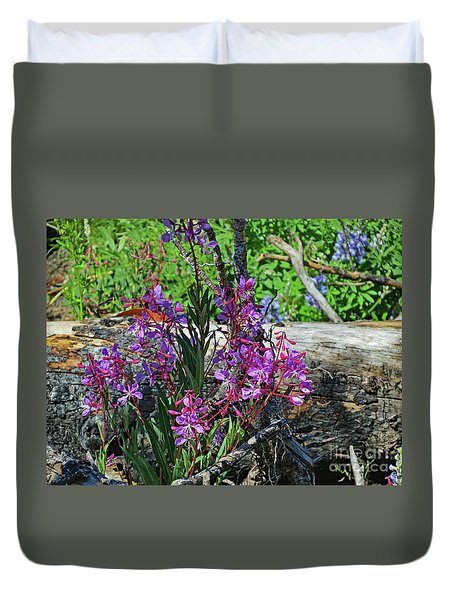 Duvet Cover featuring the photograph National Parks. From The Ashes To New Life. by Ausra Huntington nee Paulauskaite