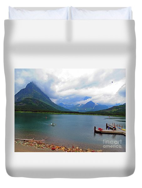 Duvet Cover featuring the photograph National Parks. Serenity Of Mcdonald by Ausra Huntington nee Paulauskaite