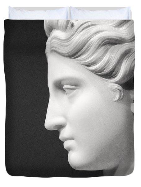 National Portrait Gallery Statue Profile Duvet Cover