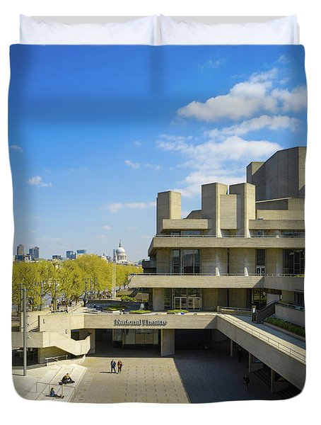 Duvet Cover featuring the photograph National Theatre by Stewart Marsden