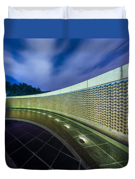 National Wwii Memorial Reflections Duvet Cover