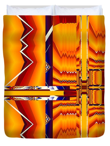 Native Abstract Duvet Cover