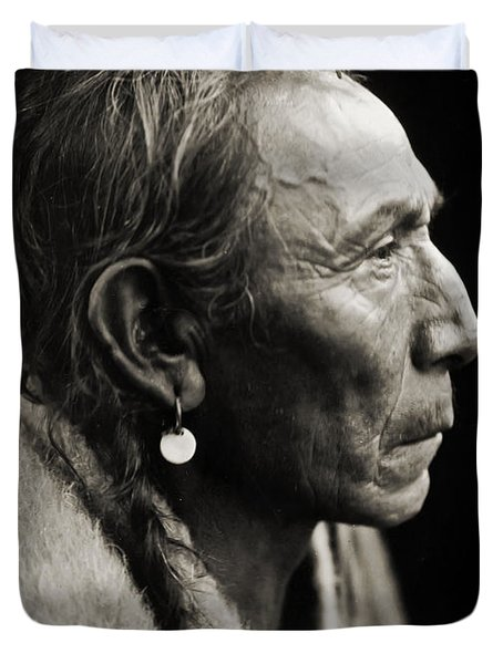 Native American Aki-tanni Two Guns Duvet Cover by Jennifer Rondinelli Reilly - Fine Art Photography