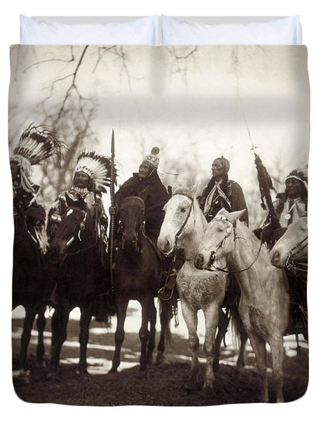 Native American Chiefs - To License For Professional Use Visit Granger.com Duvet Cover