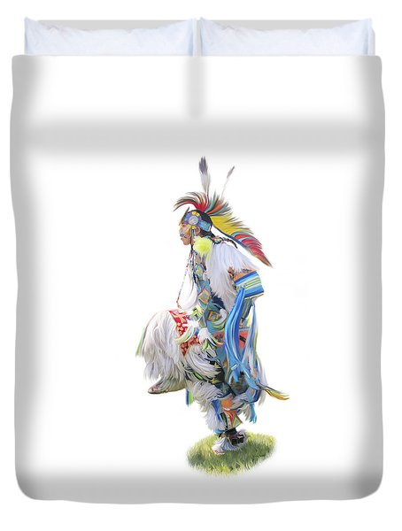 Native American Dancer Duvet Cover