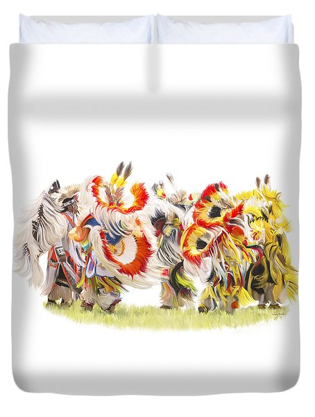 Native Color In Motion Duvet Cover
