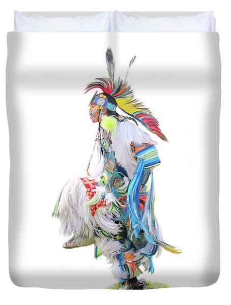 Native Pow Wow Dancer Duvet Cover