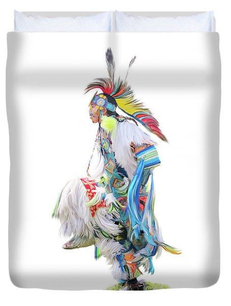 Native Pow Wow Dancer Duvet Cover