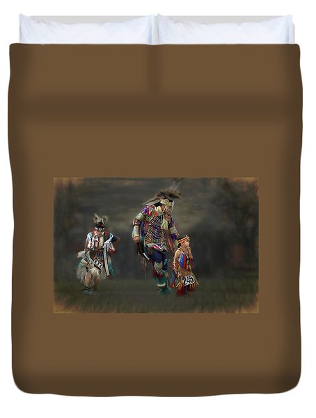 Native American Dancers Duvet Cover