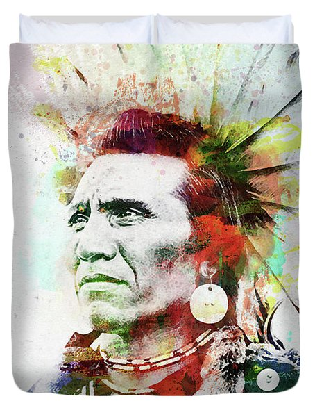 Native American Indian 2 Duvet Cover
