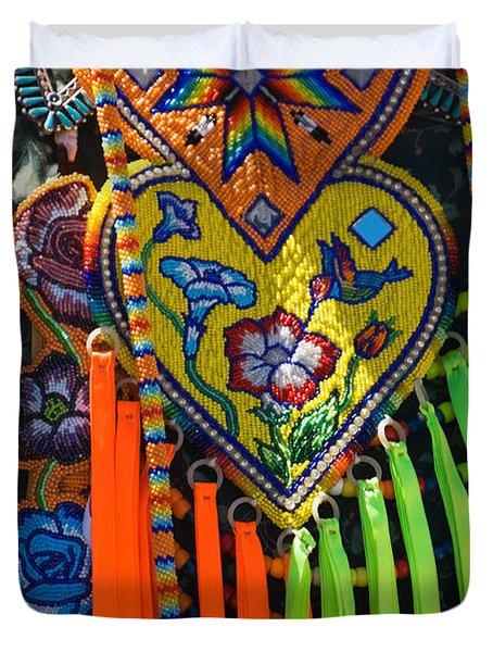 Native American Indian Ceremonial Duvet Cover